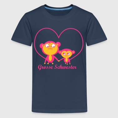 grosse Schwester - Teenager Premium T-Shirt