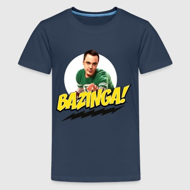 The Big Bang Theory Sheldon Bazinga teinien premiu - Teinien premium t-paita