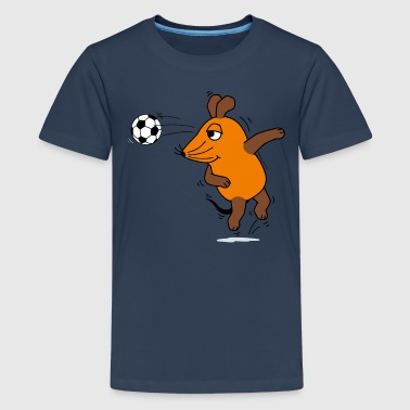 Kindershirt - Maus Kopfball - Teenager Premium T-Shirt
