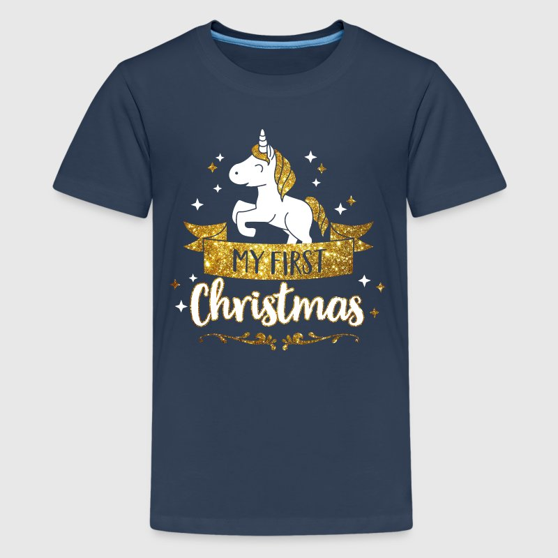 My first Christmas - mean first Christmas-Baby - Teenage Premium T-Shirt