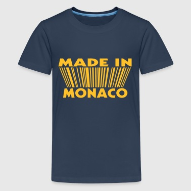 Monaco Made in Monaco 3D code - Teenager Premium T-Shirt