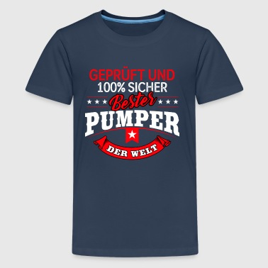 Bodybuilder Bodybuilding Pumper Fitness - Teenager Premium T-Shirt