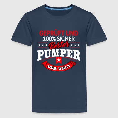 Bodybuilder Pumpen Bodybuilder Bodybuilding Pumper Fitness - Teenager Premium T-Shirt