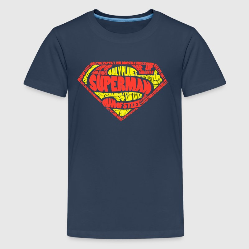 Superman Logo Männer T-Shirt - Teenager Premium T-Shirt
