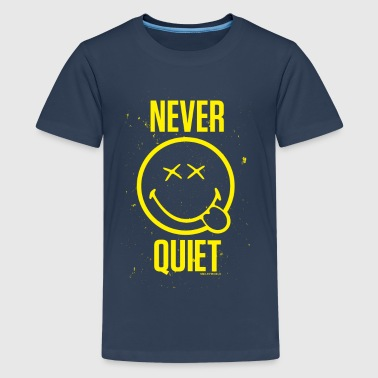SmileyWorld Never Quiet Smiley - Teenage Premium T-Shirt