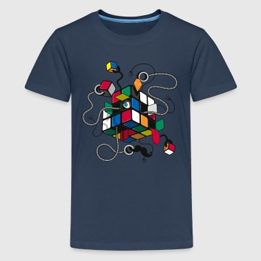 Rubik's Cube Illustration - Teenager Premium T-Shirt
