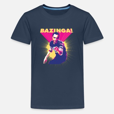 Bazinga The Big Bang Theory   - Teinien premium t-paita
