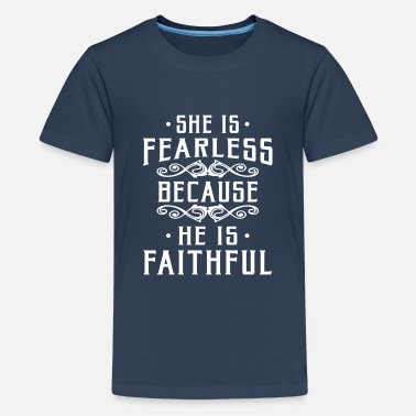 Judas Priest She is fearless because he is faithful - T-shirt Premium Ado