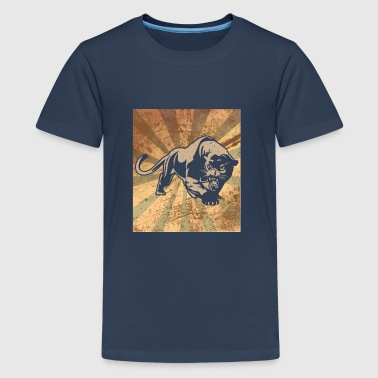 Retro Panther - silhouette classic vintage - Premium-T-shirt tonåring