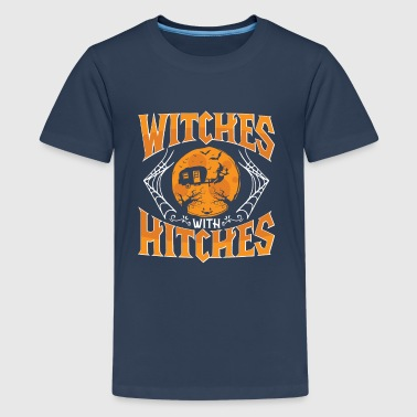 Witches with Hitches - Teenage Premium T-Shirt