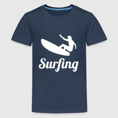 Surfing - Teenage Premium T-Shirt