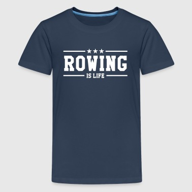 Rowing - Teenage Premium T-Shirt