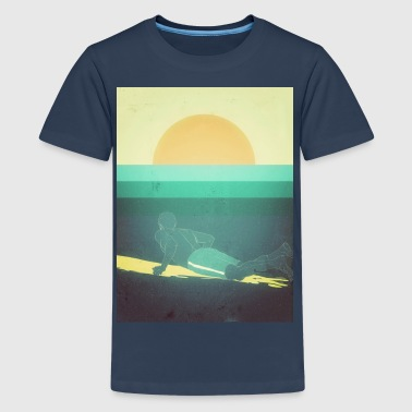 Surfing big Waves - Teenager Premium T-Shirt