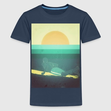 Big Wave Surf Surfing big Waves - Teenager Premium T-Shirt