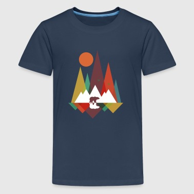 Bear in the mountains - Teenage Premium T-Shirt
