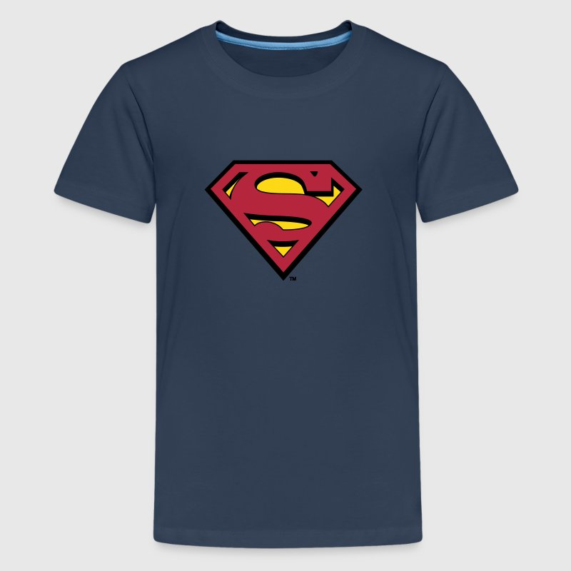 Superman Logo Men Hoodie - Premium T-skjorte for tenåringer