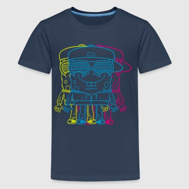 Teenagers' Premium Shirt SpongeBob Triple - Camiseta premium adolescente
