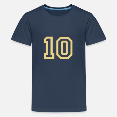 10 Geburtstag 10 Collegestyle - Teenager Premium T-Shirt