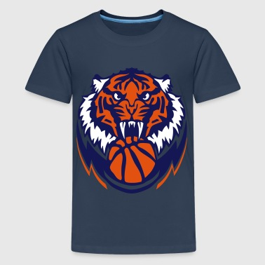 basketball Tiger logo sport team 3103 - Teenager Premium T-Shirt