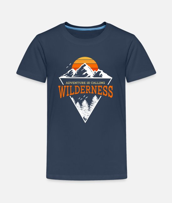 Meetkunde T-shirts - Wildernis - Teenager premium T-shirt navy
