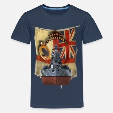 HMS Rodney - Teenage Premium T-Shirt