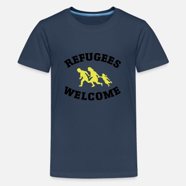 Refugees Welcome Refugees Welcome - Teinien premium t-paita