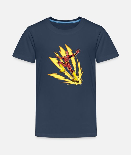 Geek T-shirts - Justice League Statue Mix - Teenager premium T-shirt navy