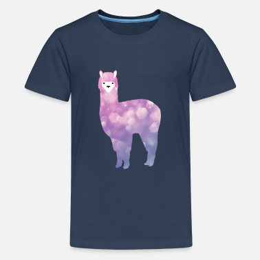 Lama Shiny - Llama - Trend - Mood - Teenage Premium T-Shirt