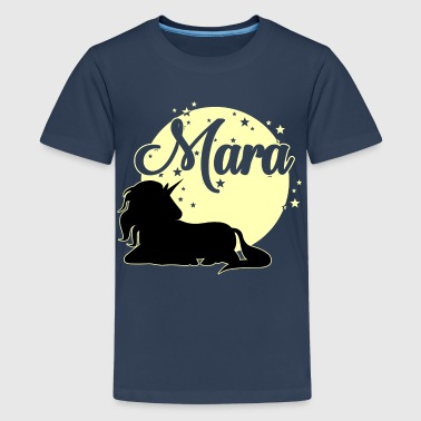 Mara Name Vornamen  - Teenager Premium T-Shirt