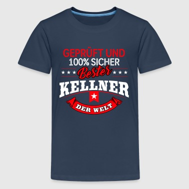 Kellner Servierer Bewirtung Gasthaus Restaurant - Teenager Premium T-Shirt