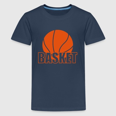 Basket - Teenage Premium T-Shirt