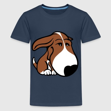Soppy Bull Terrier Brown - Teenage Premium T-Shirt