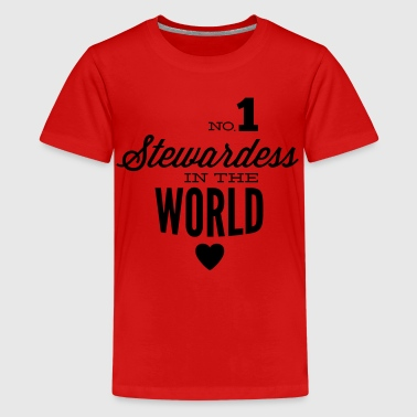 Beste Stewardess der Welt - Teenager Premium T-Shirt