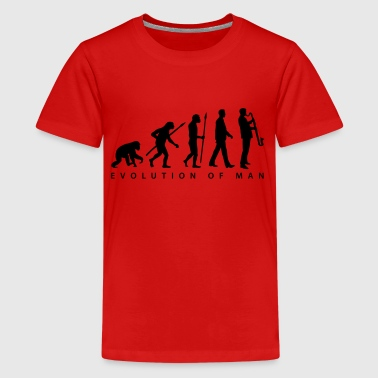 evolution_bass_klarinette_spieler_082013 - Teenager Premium T-Shirt