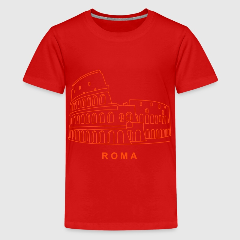 Colosseum in Rome - Teenage Premium T-Shirt