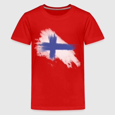 finnland flagge - Teenager Premium T-Shirt