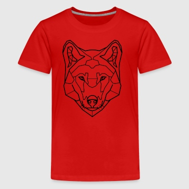 Wolf Art Line - Teenager Premium T-shirt