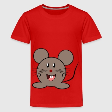 Cuddly Cuddly mouse - Teenage Premium T-Shirt
