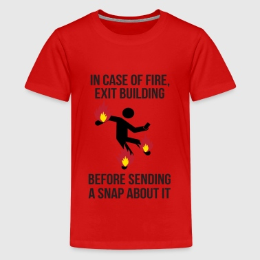 Instruction incendie. Fire instructions - T-shirt Premium Ado