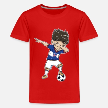 Iceland Football Football World Cup Iceland Gift Dab - Teenage Premium T-Shirt