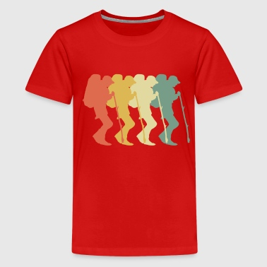 Backpacking 70s Style - Teenager Premium T-Shirt