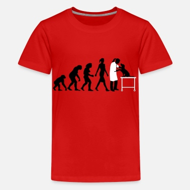 Evolution Tierarzt evolution_of_woman_tierarztin02_2c - Teenager Premium T-Shirt