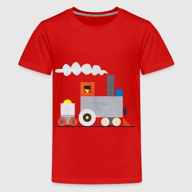 Locomotive with trailer - Teenage Premium T-Shirt