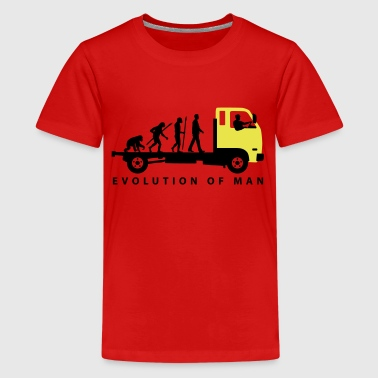 evolution_of_man_trucker_112013_b_2c - Teenager Premium T-Shirt