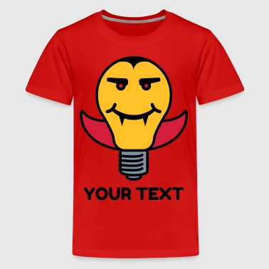 Draculamp Lightbulb - Teenage Premium T-Shirt