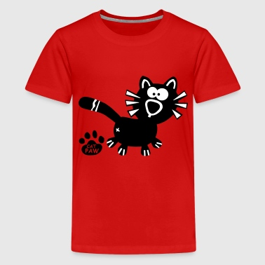 Homo Kat Catpaw Design Cat Cats Comic Fun Katze Katzen  - Teenager Premium T-shirt