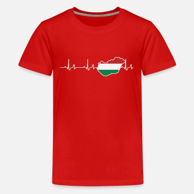 Heartbeat - Hungary - Teenage Premium T-Shirt
