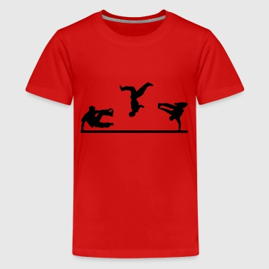 Parcours Freerunning, Free Running, Artistics - Teenage Premium T-Shirt