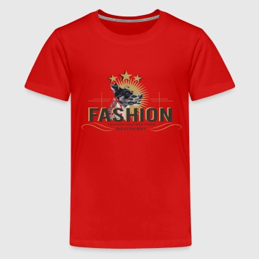 fashion-dog-oldstyle - Teenager Premium T-shirt