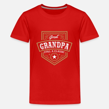 Emblems Kids Great Grandpa still a Classic - birthday emblem - Teenage Premium T-Shirt